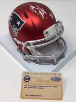 Rob Gronkowski Signed New England Patriots Blaze Speed Mini Helmet (Steiner COA) at PristineAuction.com