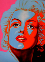 """Hector Monroy Signed """"Marilyn"""" 33.5x25.5 Original Oil Painting on Canvas (PA LOA)"""