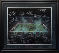 2017 Philadelphia Eagles LE 20x24 Custom Framed Photo Display Team-Signed by (20) with Nick Foles, Fletcher Cox, Carson Wentz, Jay Ajayi with Multiple Inscriptions (Fanatics Hologram) at PristineAuction.com
