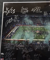 2017 Philadelphia Eagles LE 20x24 Custom Framed Photo Display Team-Signed by (20) with Nick Foles, Fletcher Cox, Carson Wentz, Jay Ajayi with Multiple Inscriptions (Fanatics) at PristineAuction.com