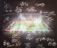2017 Philadelphia Eagles 20x24 LE Photo on Canvas Team-Signed by (20) with Carson Wentz, Nick Foles, Fletcher Cox, Jay Ajayi, Zach Ertz, Alshon Jeffery (Fanatics Hologram) at PristineAuction.com