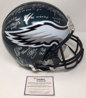 2017 Philadelphia Eagles LE Authentic On-Field Full-Size Helmet Team-Signed by (20) with Nick Foles, Fletcher Cox, Carson Wentz, Jay Ajayi with Multiple Inscriptions (Fanatics Hologram)
