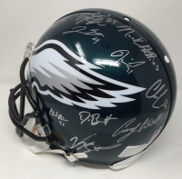 2017 Philadelphia Eagles Authentic On-Field Full-Size Helmet Team-Signed by (20) with Nick Foles, Fletcher Cox, Carson Wentz, Jay Ajayi with Multiple Inscriptions (Fanatics) at PristineAuction.com