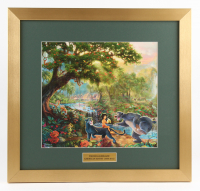 "Thomas Kinkade Walt Disney ""The Jungle Book"" 17x18 Custom Framed Print"