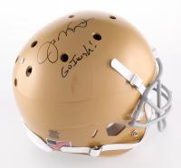 "Joe Montana Signed Notre Dame Fighting Irish Full-Size Helmet Inscribed ""Go Irish!"" (Radtke Hologram)"