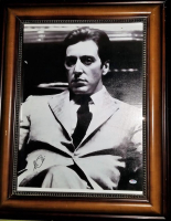 "Al Pacino Signed 22x28 ""The Godfather"" Custom Framed Canvas Print (PSA COA)"