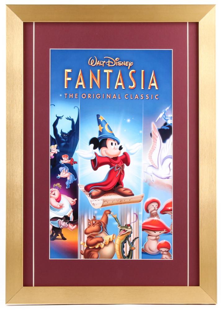 Walt Disney Fantasia 14x18 Custom Framed Movie Poster Pristine Auction