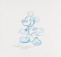 "Bret Iwan Signed Original 12x11.5 ""Kingdom Hearts"" Mickey Mouse Sketch"