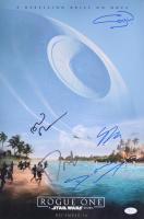 Star Wars Rogue One 12x18 Photo Signed By (5) With Donnie Yen, Gary Whitta, Gareth Edwards, Alan Tudyk  (JSA COA)