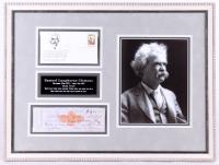 "Samuel Clemens ""Mark Twain"" Signed 18x24 Custom Framed Personal Check Display (JSA ALOA)"