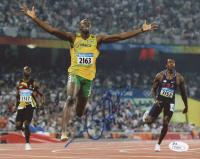 Usain Bolt Signed Olympics 8x10 Photo (JSA COA)