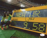 Usain Bolt Signed World Record 8x10 Photo (JSA COA)