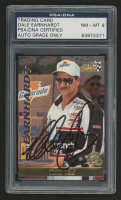 Dale Earnhardt Sr. Signed 1996 Action Packed Credentials #17 (PSA Encapsulated - Autograph Graded 8)