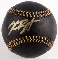 Kris Bryant Signed Black Leather OML Baseball (PSA COA)