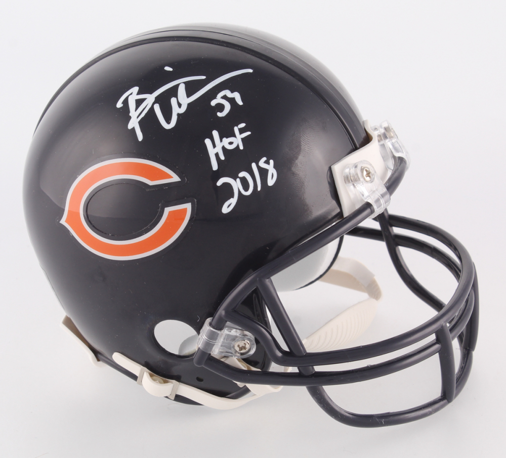 02fb742b5e5 Brian Urlacher Signed Bears Mini Helmet Inscribed