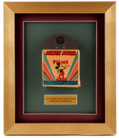 "Vintage 1940's Walt Disney's Mickey Mouse ""Silly Symphonies"" 12x14 Custom Framed Film Reel Display"