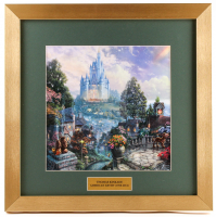 "Thomas Kinkade ""Cinderella Wishes Upon a Dream"" 16x16 Custom Framed Print Display"