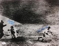 Mickey Owen & Tommy Henrich Signed 11x14 Photo (JSA COA)