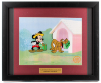 "Mickey Mouse & Pluto ""Mr. Mouse Takes a Trip"" LE 16x19.5 Custom Framed Animation Serigraph Cel"
