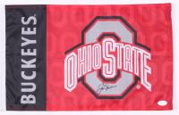 Jack Nicklaus Signed Ohio State Buckeyes Golf Pin Flag (JSA LOA)