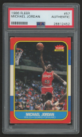 1986-87 Fleer #57 Michael Jordan RC (PSA Authentic)