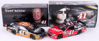 Lot of (2) Kurt Busch Signed 1:24 LE Die Cast Cars with #41 State Water Heaters 2014 SS & #41 Haas Automation 2015 SS (JSA COA)