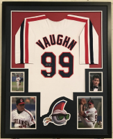 "Charlie Sheen Signed ""Major League"" 34x42 Custom Framed Jersey Display (JSA COA)"