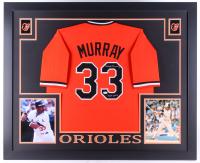 "Eddie Murray Signed Orioles 35x43 Custom Framed Jersey Inscribed ""HOF 2003"" (JSA COA) at PristineAuction.com"