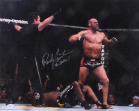 """Randy Couture Signed UFC 16x20 Photo Inscribed """"The Natural"""" (JSA COA)"""