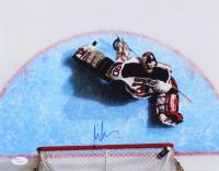 Martin Brodeur Signed Devils 11x14 Photo (JSA COA)