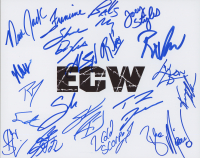 ECW 8x10 Photo Signed by (20) with New Jack, Balls Mahoney, Noza, Sandman, Steve Corino, Francine (Leaf)