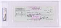 Jim Henson Signed Personal Bank Check (PSA Encapsulated)
