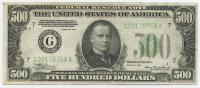 1934 $500 Five Hundred Dollars Federal Reserve Note