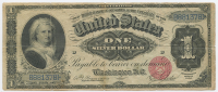 1886 $1 One Dollar U.S. Silver Certificate Large Size Currency Bank Note