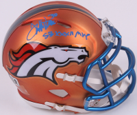 "Terrell Davis Signed Broncos Mini Blaze Speed Helmet Inscribed ""SBXXXII MVP"" (Radtke COA & Davis Hologram) at PristineAuction.com"