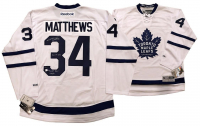 "Auston Matthews Signed Maple Leafs LE Jersey Inscribed ""2016 #1 Pick"" & ""NHL Debut 10/12/16"" (Fanatics Hologram) at PristineAuction.com"