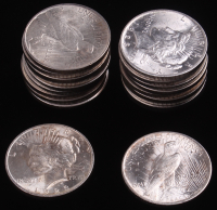 Lot of (20) 1923 Peace Silver Dollars