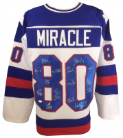"1980 Team USA ""Miracle On Ice"" Jersey Team-Signed by (15) Including Jim Craig, Mike Eruzione, Jack O'Callahan, Buzz Schneider (JSA COA)"