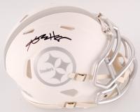 Antonio Brown Signed Steelers White ICE Mini Speed Helmet (JSA COA) at PristineAuction.com