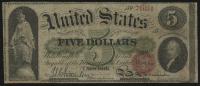 1863 $5 Five Dollars Legal Tender Bank Note