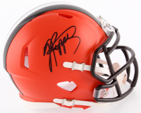 Jabrill Peppers Signed Browns Speed Mini Helmet (JSA COA) at PristineAuction.com