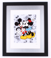 Mickey And Minnie 16x19 Custom Framed Hand Painted Serigraph Cel