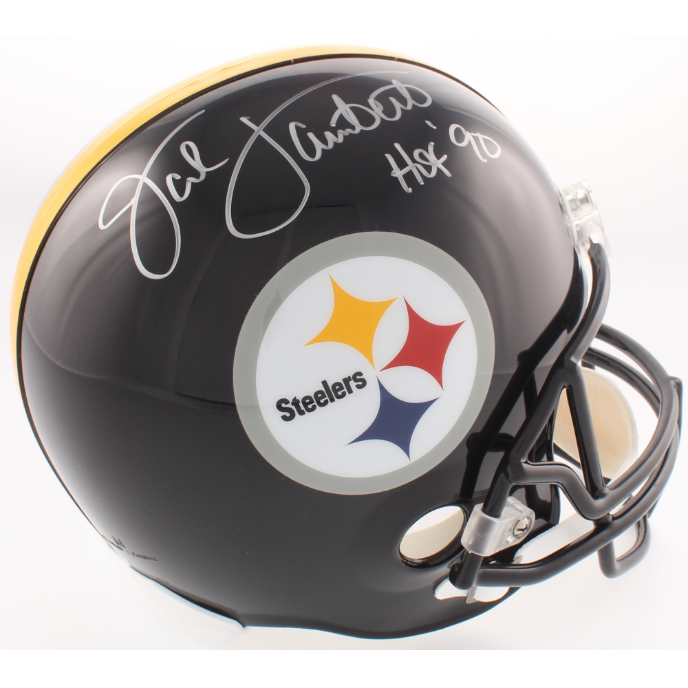 ee0bb17fa42 Jack Lambert Signed Steelers Full-Size Helmet Inscribed