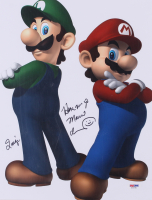 Charles Martinet Signed Mario 11x14 Photo With Inscriptions (PSA COA)