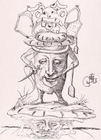 """Salvador Dali Signed """"Les Songes Drolatiques (Comical Dreams) de Pantagruel"""" Butcher, Baker, Chef 21x30 LE 1973 Lithograph on Archival Japon Paper (PA LOA)"""