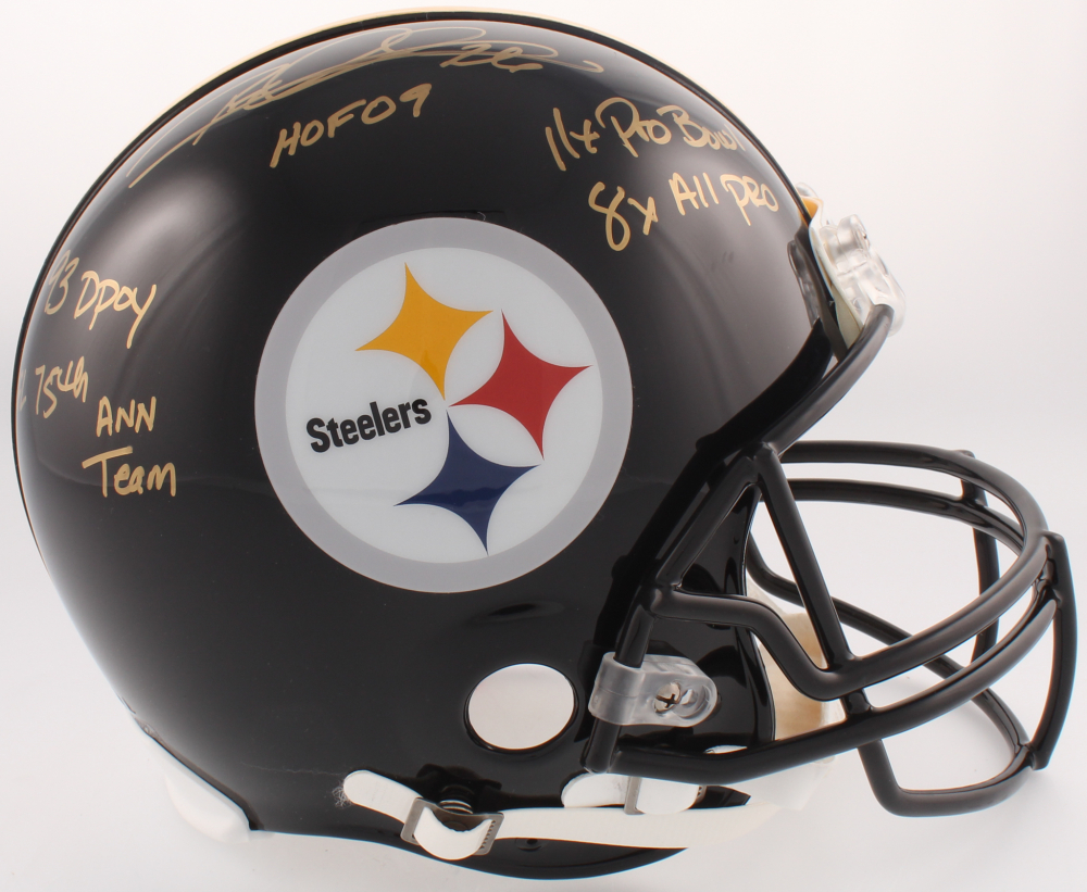 7e33042ca Rod Woodson Signed Pittsburgh Steelers Full-Size Authentic On-Field Helmet  wiht (5