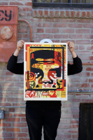"""Shepard Fairey - """"Obey"""" Andre the Giant - Signed 18x24 Lithograph on Cream Speckle Tone Paper at PristineAuction.com"""