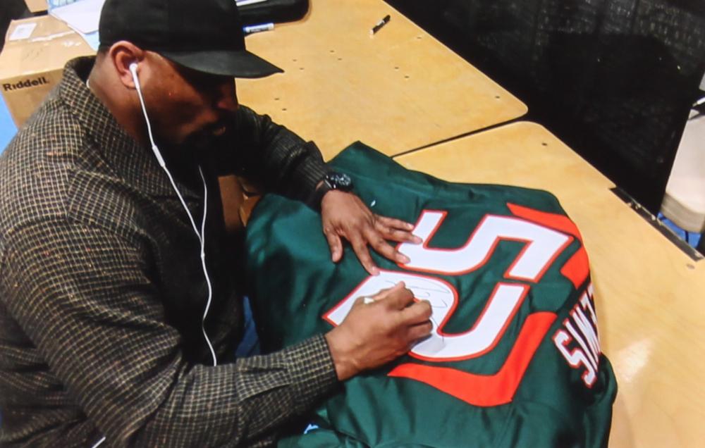 Ray Lewis Signed Miami Hurricanes Jersey (Radtke COA   Lewis Hologram) at  PristineAuction. ec9bb374f