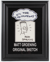 "Matt Groening Signed ""The Simpsons"" 16x20 Custom Framed Bart Simpson Original Sketch (JSA LOA)"