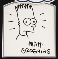 "Matt Groening Signed ""The Simpsons"" 16x20 Custom Framed Bart Simpson Original Sketch (JSA LOA) at PristineAuction.com"